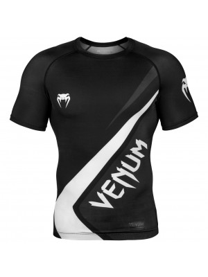 Rash Guard - Venum - 'Contender 4.0' - Black/White - Short sleeve
