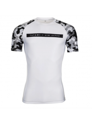 Rash Guard - Tatami fightwear - 'Rival' - White/Camo - Short sleeve