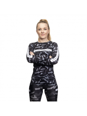 Rash Guard - Tatami fightwear - 'Rival, Ladies' - Black/Camo - Long sleeve