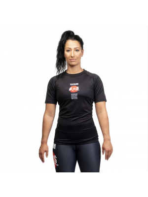 Rash Guard - Tatami fightwear - 'Bushido, ladies' - Black - Short sleeve