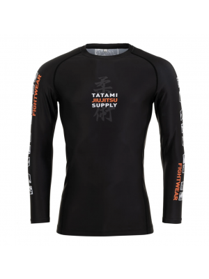 Rash Guard - Tatami fightwear - 'Tropic' - Black - Long sleeve